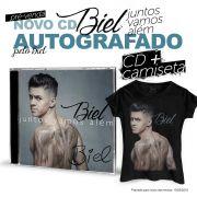 Combo Biel Camiseta Feminina + CD Juntos Vamos Além AUTOGRAFADO