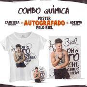 Combo Biel Qu�mica com P�ster AUTOGRAFADO + Camiseta Feminina