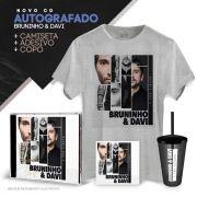 Combo CD AUTOGRAFADO Bruninho & Davi Depois das 3 + Camiseta Masculina