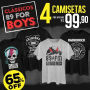 Combo Clássicos 89FM For Boys