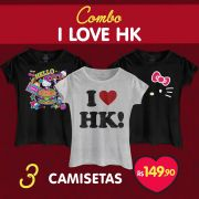 Combo Feminino Hello Kitty I Love HK