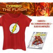 Combo Feminino The Flash Camiseta + HQ A Origem Revelada