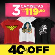 Combo Feminino Wonder Woman Power