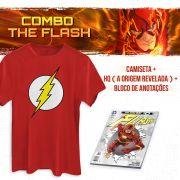 Combo Masculino The Flash Camiseta + HQ A Origem Revelada