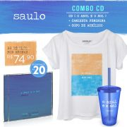 Combo Saulo CD O Azul e O Sol + Blusa Feminina + Copo