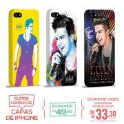 Kit Com 3 Capas de iPhone 5/5S Luan Santana O Nosso Tempo é Hoje