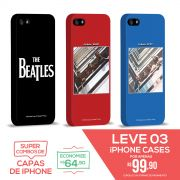 Kit Com 3 Capas de iPhone 5/5S The Beatles Coletâneas