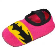 Meia Antiderrapante Infantil Cano Baixo Batgirl Logo
