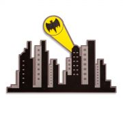 Placa de Madeira Batman Gotham City