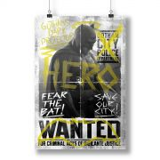 Pôster Batman VS Superman Hero Wanted