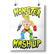 Pôster Monstra Maçã Monster Mash Up