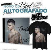 Pré-Venda Combo Biel Camiseta Masculina + CD Juntos Vamos Além AUTOGRAFADO