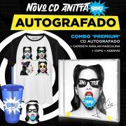 Pré-Venda Combo Premium CD Bang! Anitta AUTOGRAFADO + Raglan Masculina