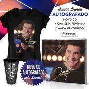 Combo Daniel com CD AUTOGRAFADO + Camiseta + Copo