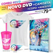 Combo DVD Pool Party do Aviões Ao Vivo + Camiseta Feminina