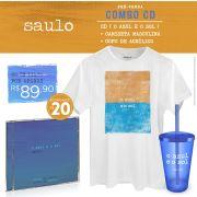 Pré-Venda Combo Saulo CD O Azul e O Sol + Camiseta Masculina + Copo