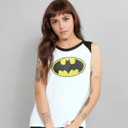 Regata Feminina Batman Logo Clássico