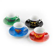 Set 8 Peças Xícaras Porcelana DC Logos Solid Colors