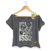 T-shirt Premium Feminina Chaves Isso! Isso! Isso! Black