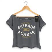 T-shirt Premium Feminina CPM 22 S� Paro Quando a Estrada Acabar