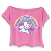 T-shirt Premium Feminina Hello Kitty Unicorn
