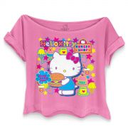 T-shirt Premium Feminina Hello Kitty Waitress