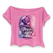 T-shirt Premium Feminina Luan Santana O Amor Dela Sou Eu