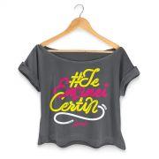 T-shirt Premium Feminina Ludmilla Te Ensinei Certin