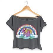 T-shirt Premium Feminina Monstra Maçã My Little Monster