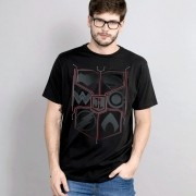 T-Shirt Unissex Liga da Justiça Crest