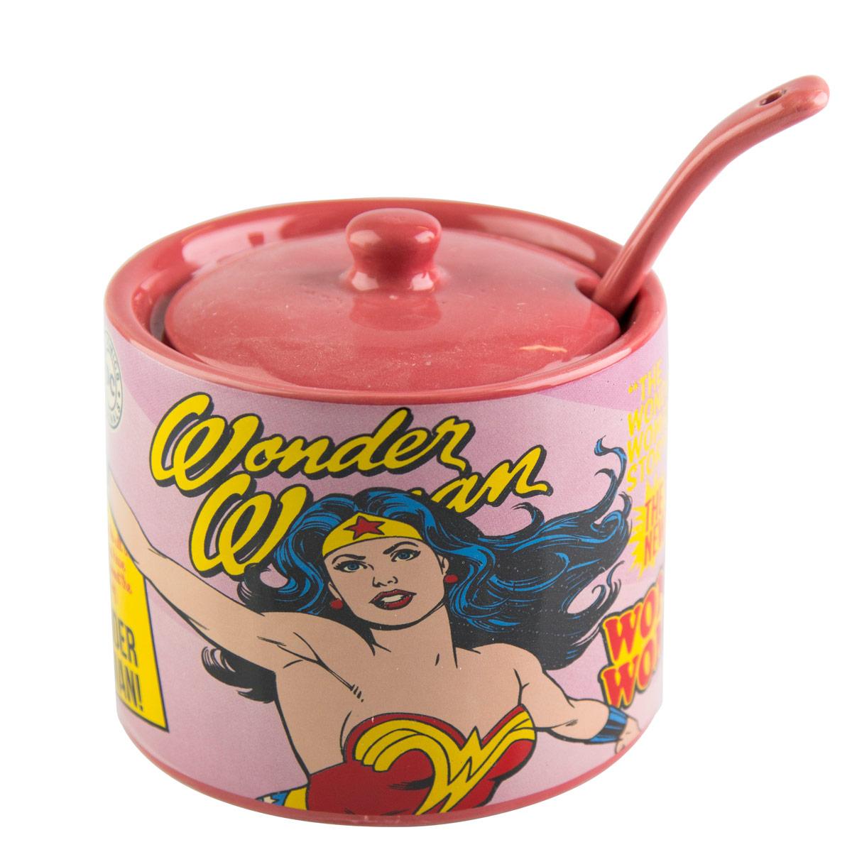 Açucareiro Cerâmica DC Comics Wonder Woman Cover Page