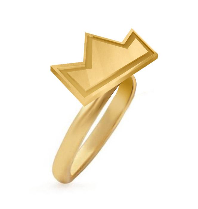 Anel Thiaguinho Coroa Ouro