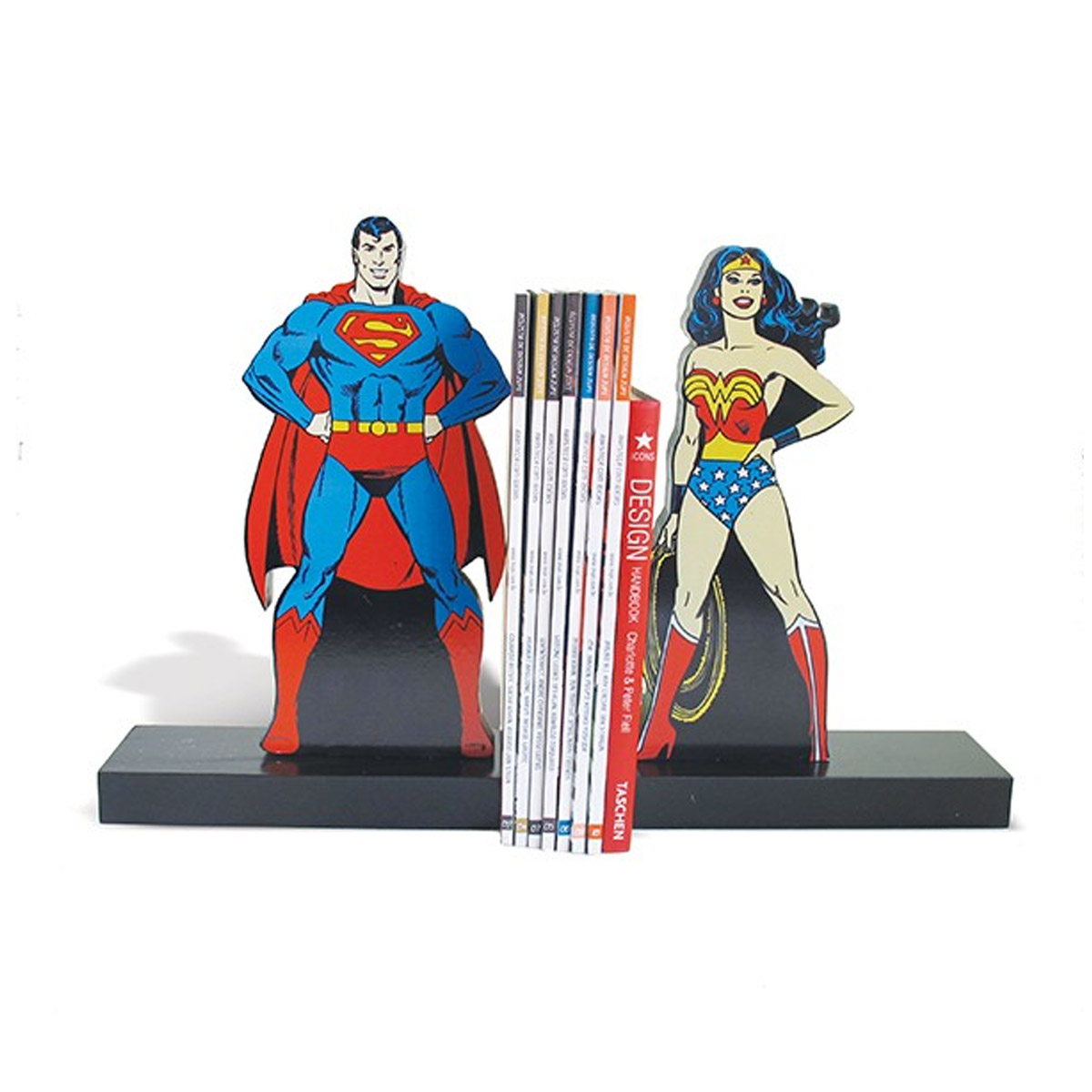 Aparador de Livro Superman e Wonder Woman