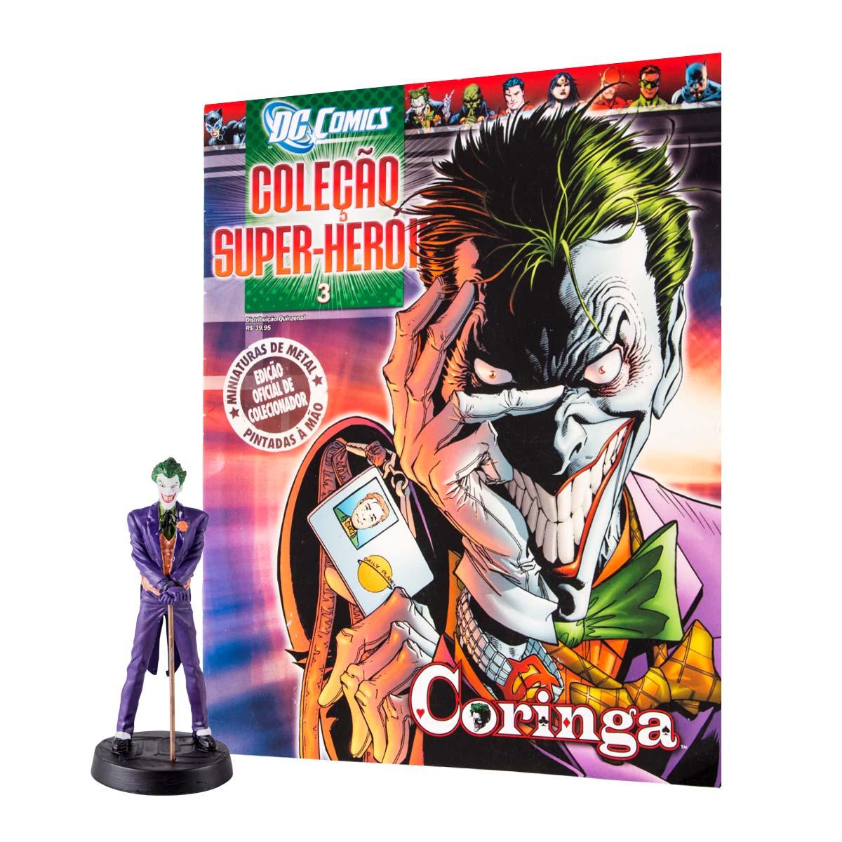 Boneco Miniatura Coringa + Revista