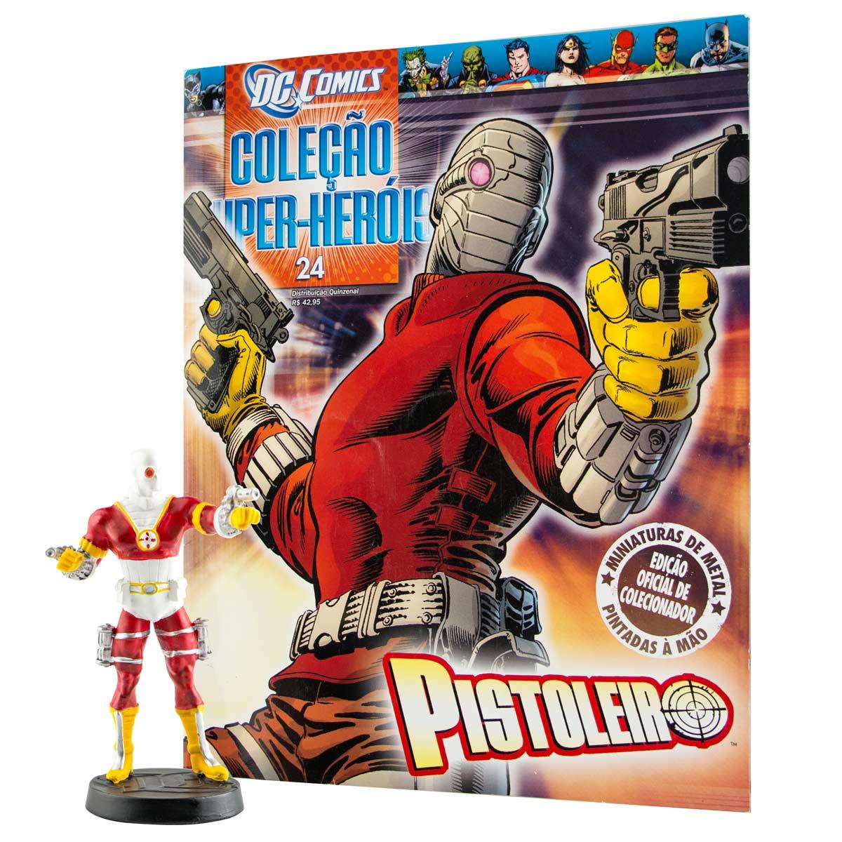 Boneco Miniatura Pistoleiro + Revista