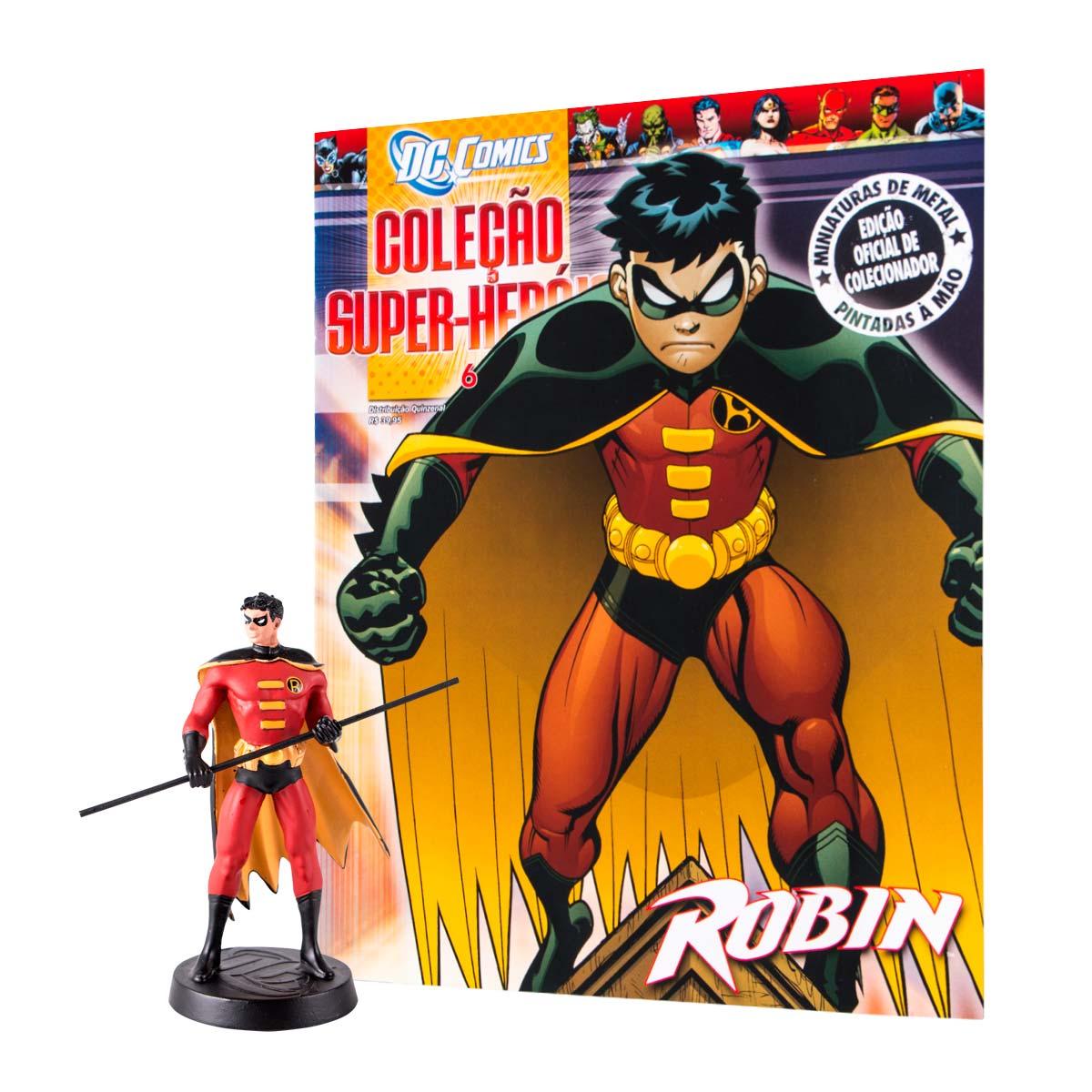 Boneco Miniatura Robin + Revista