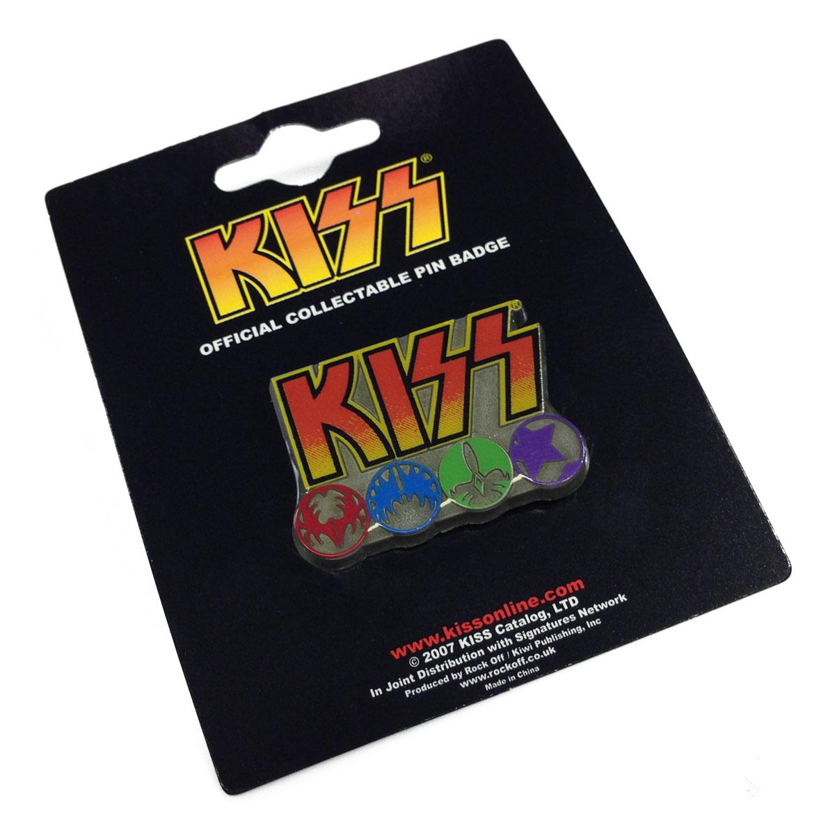 Button de Metal Kiss Logo