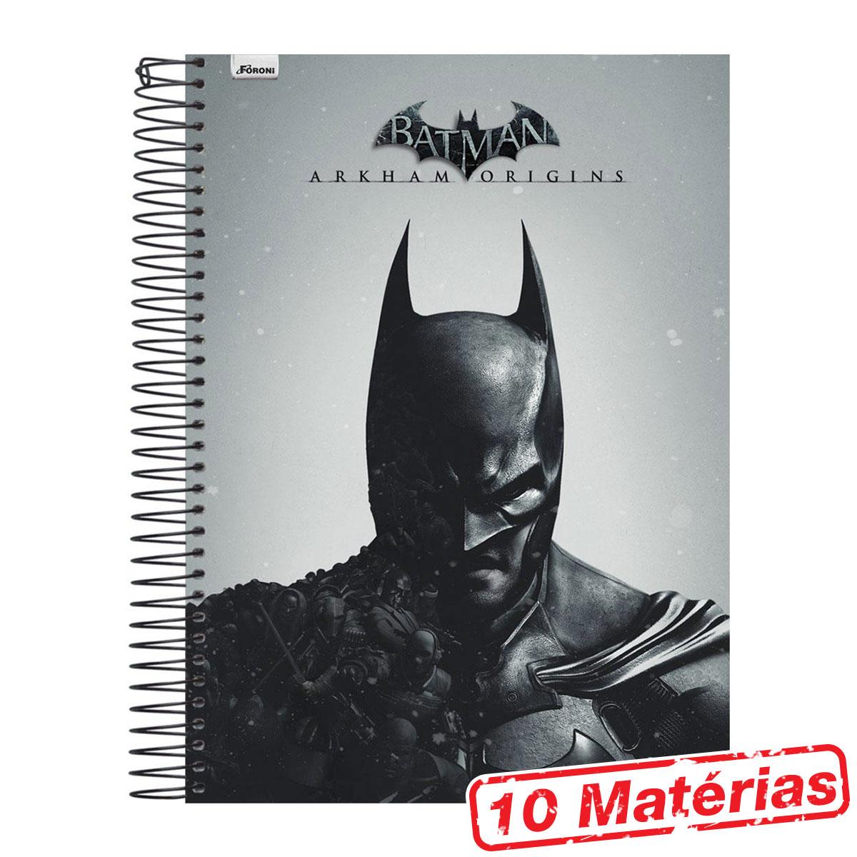 Caderno 10 Matérias Batman Half Black Face