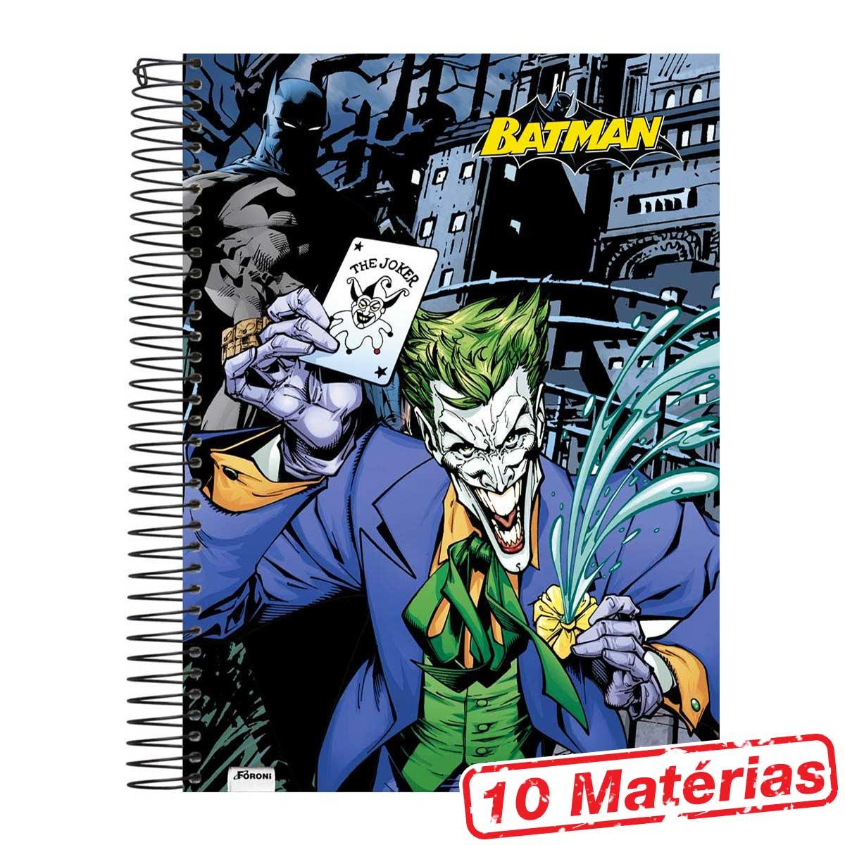 Caderno 10 Matérias Batman The Joker