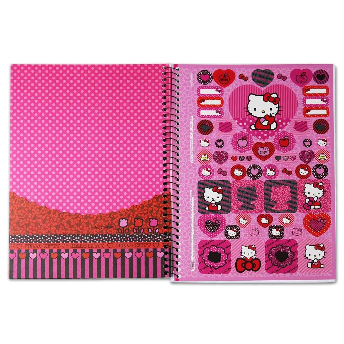 Caderno Hello Kitty Fashion Stripes 10 Matérias