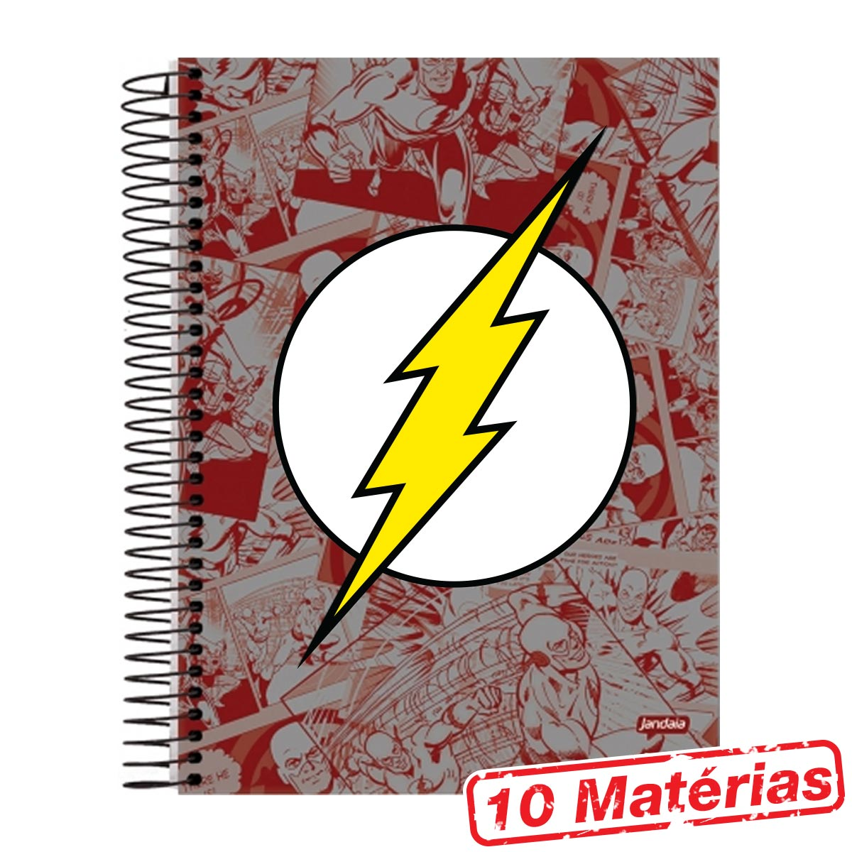 Caderno 10 Matérias The Flash Logo