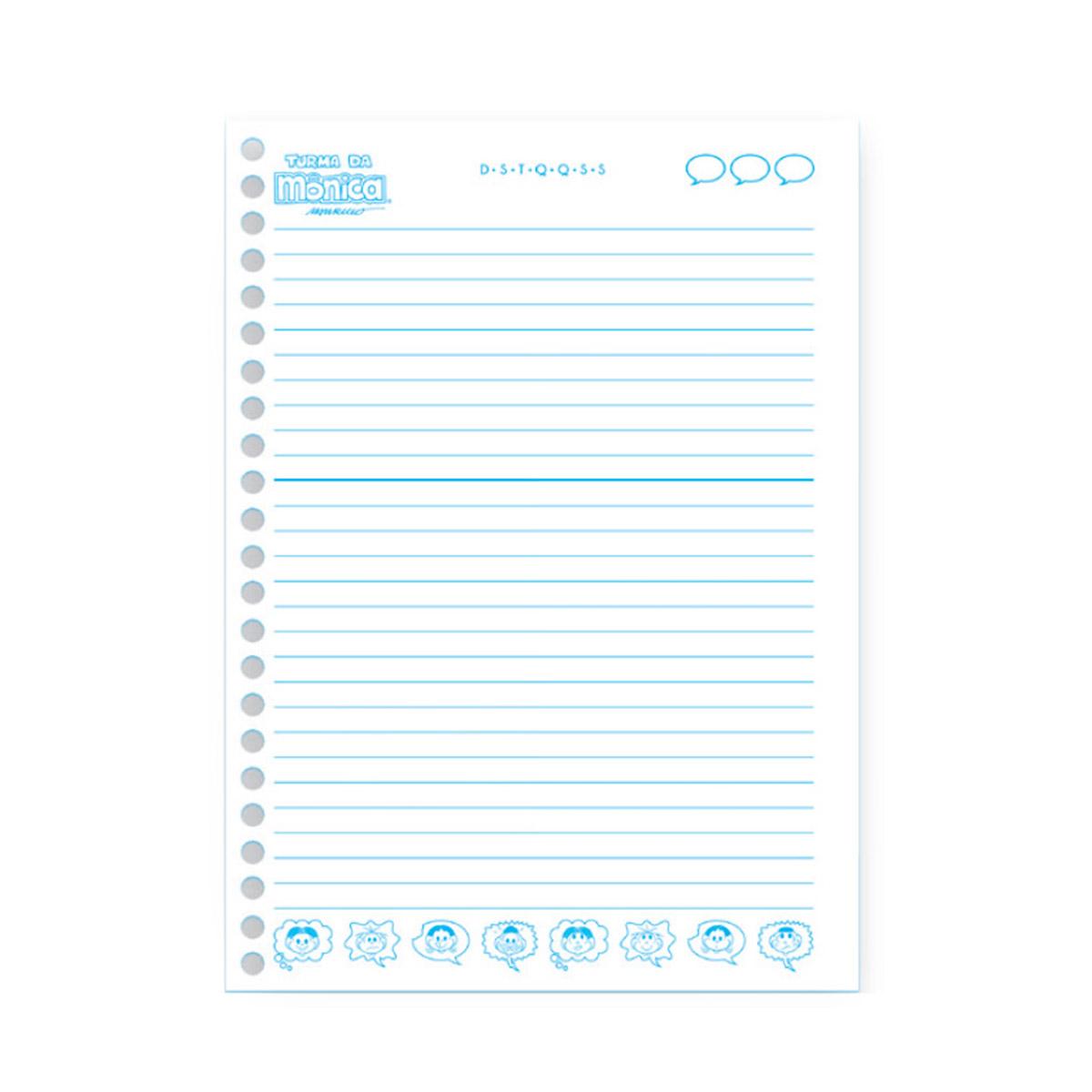 Caderno Turma da Mônica Onomatopeia Cascão 10 Matérias