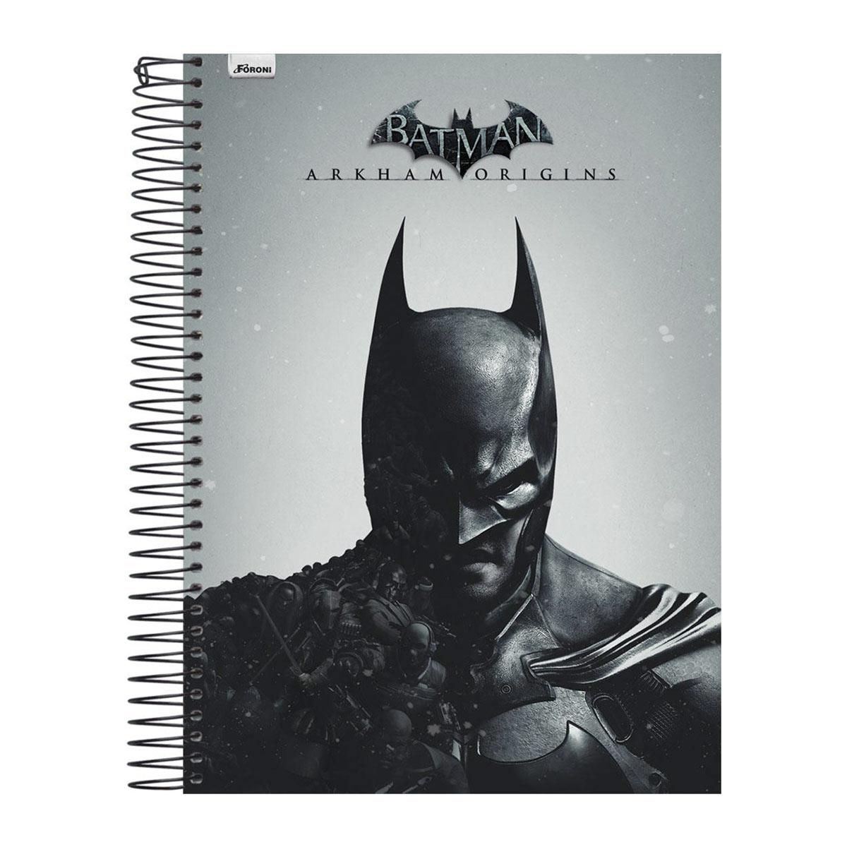Caderno 1 Matéria Batman Half Black Face