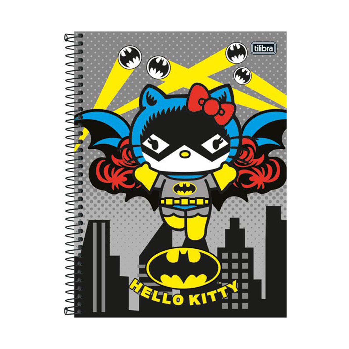 Caderno Hello Kitty DC Comics Batgirl 1 Matéria