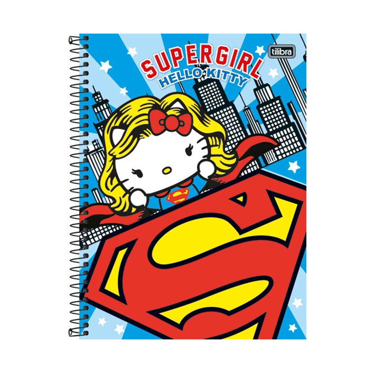Caderno Hello Kitty DC Comics Supergirl 1 Matéria