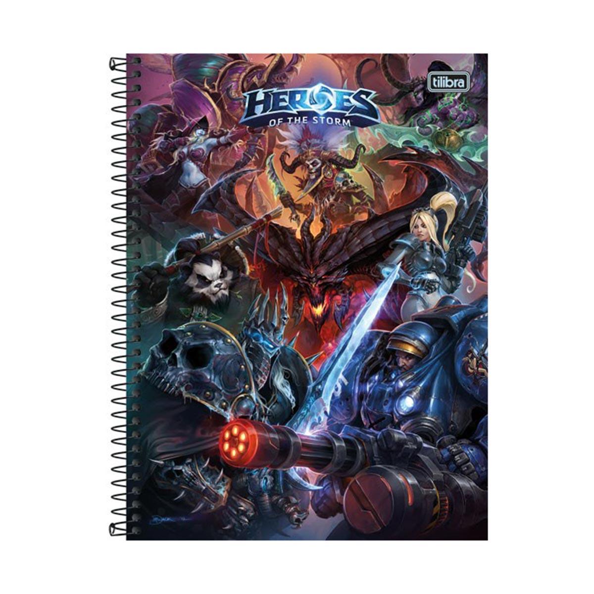 Caderno Heroes Of The Storm Logo 1 Matéria