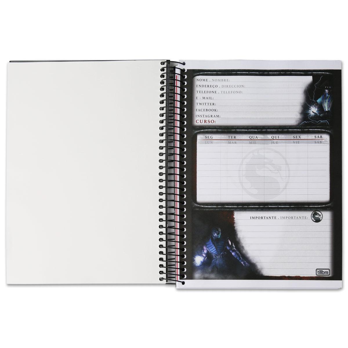 Caderno Mortal Kombat X Scorpion 1 Matéria