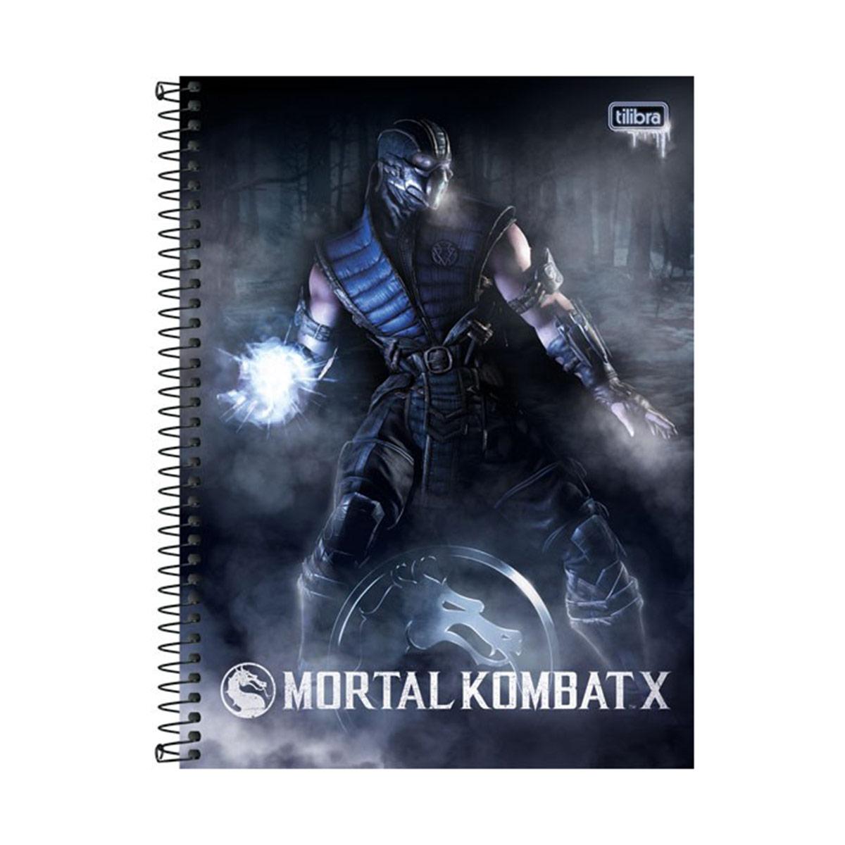 Caderno Mortal Kombat X Sub-Zero 1 Matéria