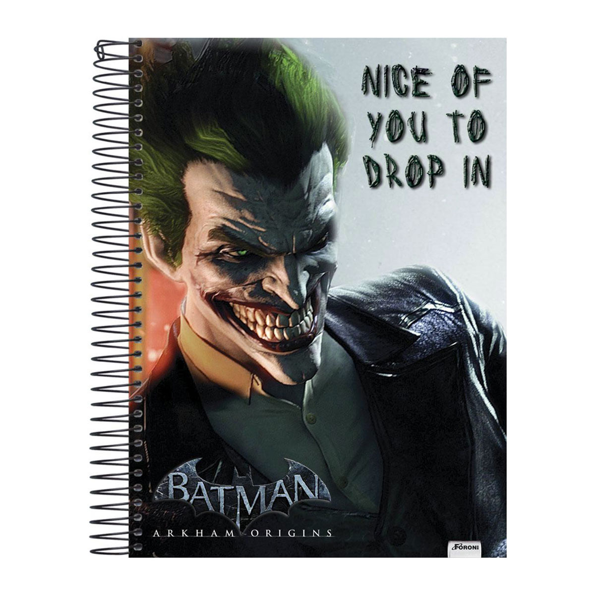 Caderno 1 Matéria The Joker Nice Of You to Drop In