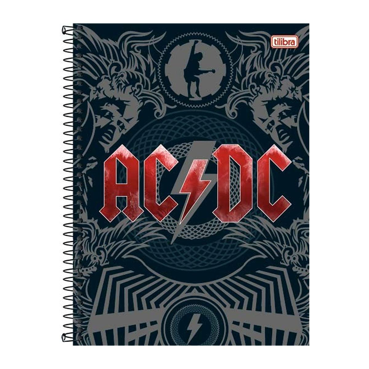 Caderno AC/DC Logo 10 Matérias